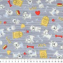 Tecido-Tricoline-Estampado-Infantil-Cachorrinho-Cinza-Fabricart-5947