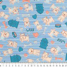 Tecido-Tricoline-Estampado-Infantil-Cachorrinho-Azull-Fabricart-5942