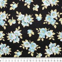 Tecido-Tricoline-Estampado-Floral-Jardim-Preto-Azul-Fabricart-5939