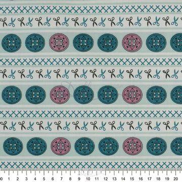 Tecido-Tricoline-Estampado-Textura-Faixa-Botoes-Azul-Fabricart-5962