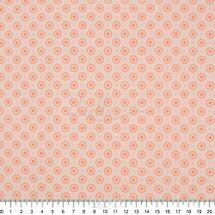 Tecido-Tricoline-Estampado-Textura-Circulos-Salmao-6041