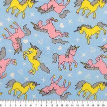 Tecido-Tricoline-Estampado-Infantil-Unicornios-fundo-Azul-6122