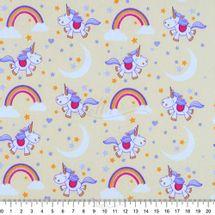 Tecido-Tricoline-Estampado-Infantil-Unicornio-Fundo-Amarelo-6071