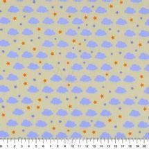 Tecido-Tricoline-Estampado-Infantil-Nuvens-Fundo-Amarelo-6050