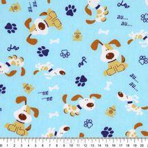 Tecido-Tricoline-Estampado-Infantil-Cachorro-fundo-Azul-6119