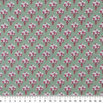 Tecido-Tricoline-Estampado-Floral-Ramalhetes-Verde-Folha-6048