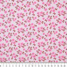 Tecido-Tricoline-Estampado-Floral-Flor-Pink-Fundo-Rosa-Claro-6049