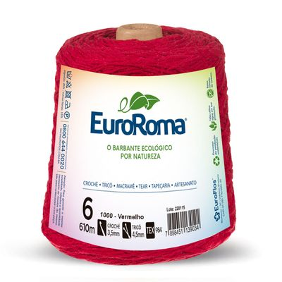Barbante-Colorido-EuroRoma-4-6-Vermelho