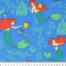 Tecido-Tricoline-Colecao-Disney-Princesa-Ariel