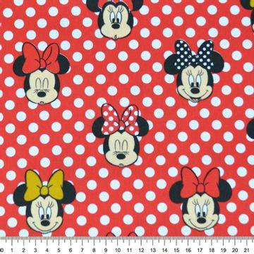 Tecido-Tricoline-Estampado-Colecao-Disney-Minie-com-Poa