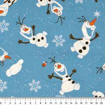 Tecido-Tricoline-Estampado-Colecao-Disney-Frozen-Olaf