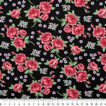 Tecido-tricoline-Estampado-Floral-Rosas-F--Preto