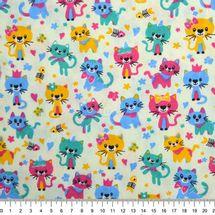 Tecido-tricoline-Estampado-Animais-Gatos