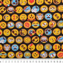 Tecido-tricoline-Estampado-Infantil-Emoticons
