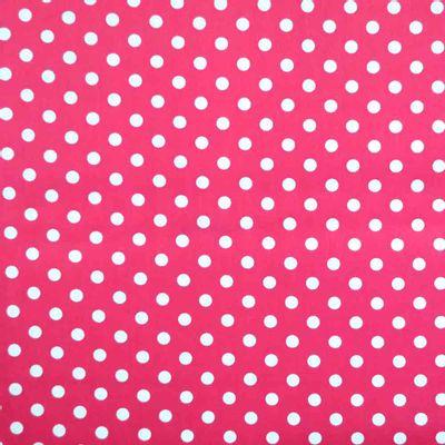 Tecido-Tricoline-Estampado-Poa-Grande--Fundo-Pink
