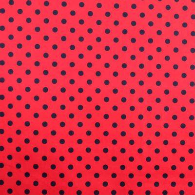 Tecido-Tricoline-Estampado-Poa-Grande-Fundo-Vermelho