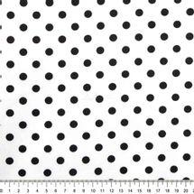 Tecido-Tricoline-Estampado-Poa-Grande-Fundo-Branco