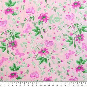 Tecido-Tricoline-Estampado-Floral-Borboletas-
