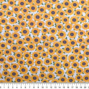 Tecido-tricoline-Estampado-Floral-Girassol