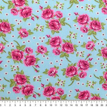 Tecido-tricoline-Estampado-Floral-Rosas