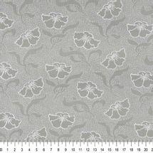 Tecido-Tricoline-Estampado-Floral-Cinza