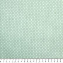 Tecido-Tricoline-Estampado-Poa-Mini-Branco-Fundo-Verde-Claro
