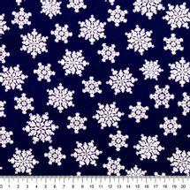 Tecido-Tricoline-Natal-Cristais-De-Neve-Fundo-Azul
