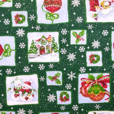 Tecido-Tricoline-Natal-Urso-e-Bolas-Fundo-Verde