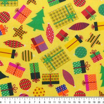 Tecido-Tricoline-Natal-Presentes-Fundo-Amarelo