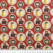 Tecido-Tricoline-Natal-Urso-e-Sinos-Fundo-Vermelho