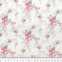 Tecido-Tricoline-Estampado-Floral-Sarah-Rosa-Fundo-Branco