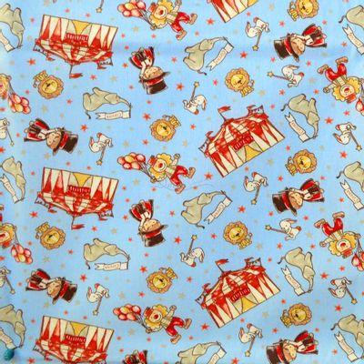 Tecido-Tricoline-Estampado-Infantil-Circus-Fundo-Azul