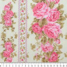 Tecido-Tricoline-Estampado-Floral-Barrado-Rosas-Fundo-Bege