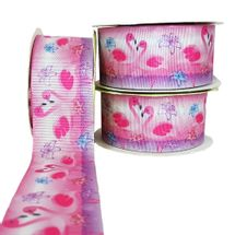 Fita-de-Gorgurao-Estampada-Art-Fitas-38mm-Flamingo-G388