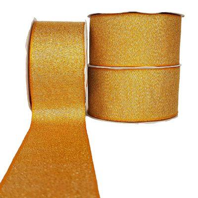 Fita-de-Cetim-Lurex-38mm-n-9-Cinderela-Amarelo-Ouro-
