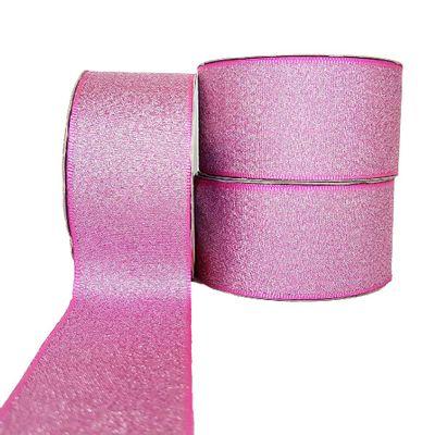 Fita-de-Cetim-Lurex-38mm-n-9-Cinderela-Rosa-Chiclete