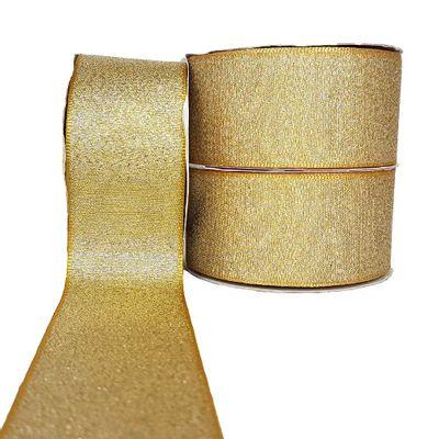 Fita-de-Cetim-Lurex-38mm-n-9-Cinderela-Dourado