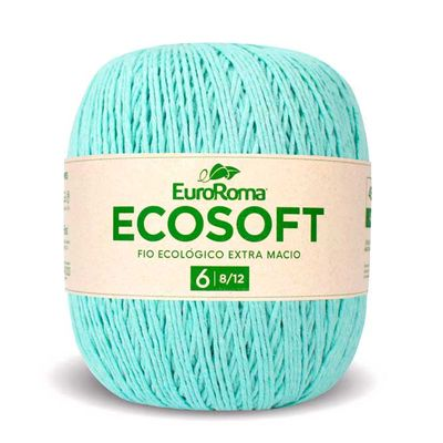 Barbante-Ecosoft-Euroroma-Cor-800-Verde-agua-claro