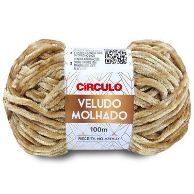 La-Veludo-Molhado-Circulo-100G-Cor-7453-Castanha-Della-Aviamentos