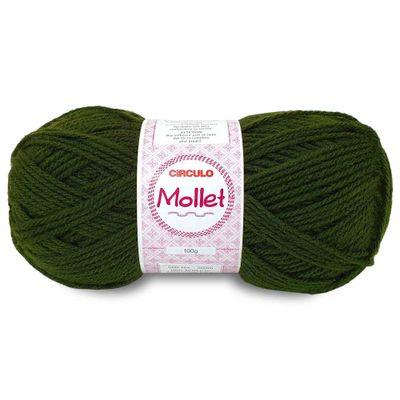 La-Fio-Mollet-Circulo-100g-cor-447-Verde-Militar-Della-Aviamentos