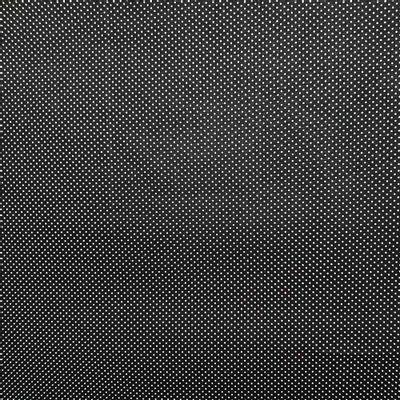 Tecido-Tricoline-Estampado-Poa-Mini-branco-Fundo-Preto-Della-Aviamentos