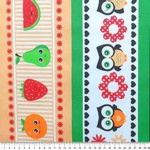 Tecido-Tricoline-Estampado-Cozinha-Barrado-Frutas-Coruja-Della-Aviamentos