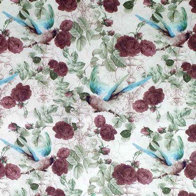 Tecido-Tricoline-Digital-Rosas-Negras-Della-Aviamentos