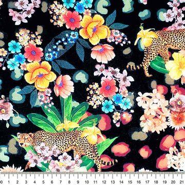 Tecido-Tricoline-Digital-Floral-Onca-Della-Aviamentos