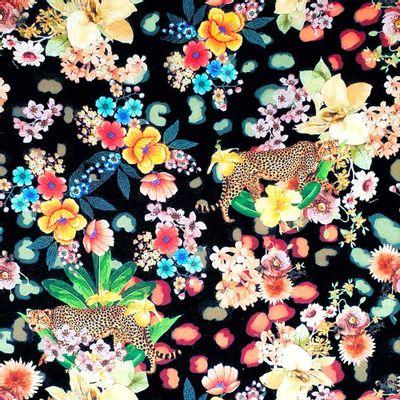 Tecido-Tricoline-Digital-Floral-Onca-Della-Aviamentos.