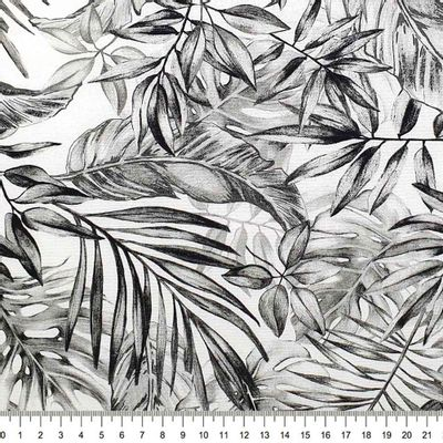 Tecido-Tricoline-Digital-Folha-Preto-Branco-Della-Aviamentos