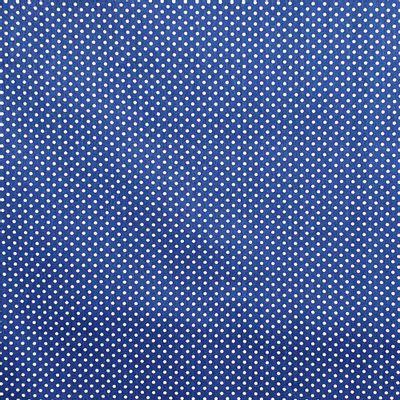 Tecido-Tricoline-Estampado-Poa-Branco-Fundo-Azul-Della-Aviamentos