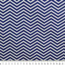 Tecido-Tricoline-Estampado-Textura-Chevron-Azul-Cinza-Della-Aviamentos.