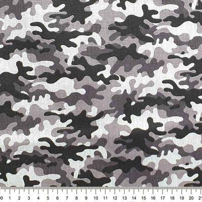 Tecido-Tricoline-Estampado-Textura-Camuflado-Preto-Cinzal-Della-Aviamentos.