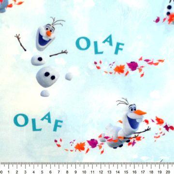 Tecido-Tricoline-Colecao-Frozen-Olaf-Fundo-Branco-Della-Aviamentos.
